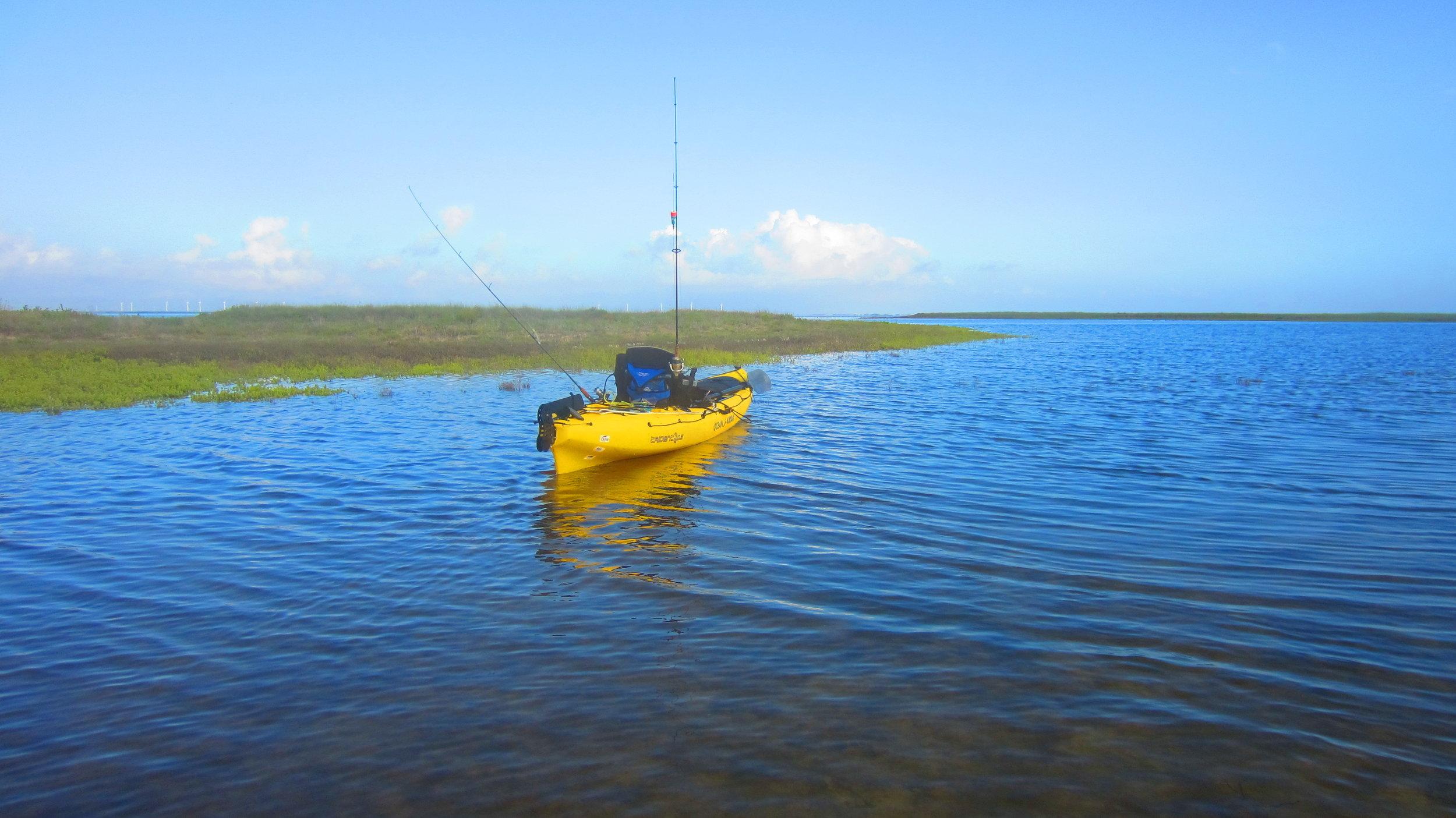 Bay Kayak fishing