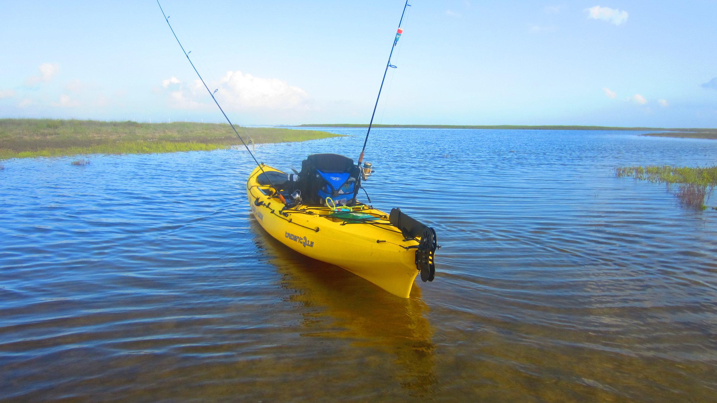Laguna Madre Kayak fishing behind Padre