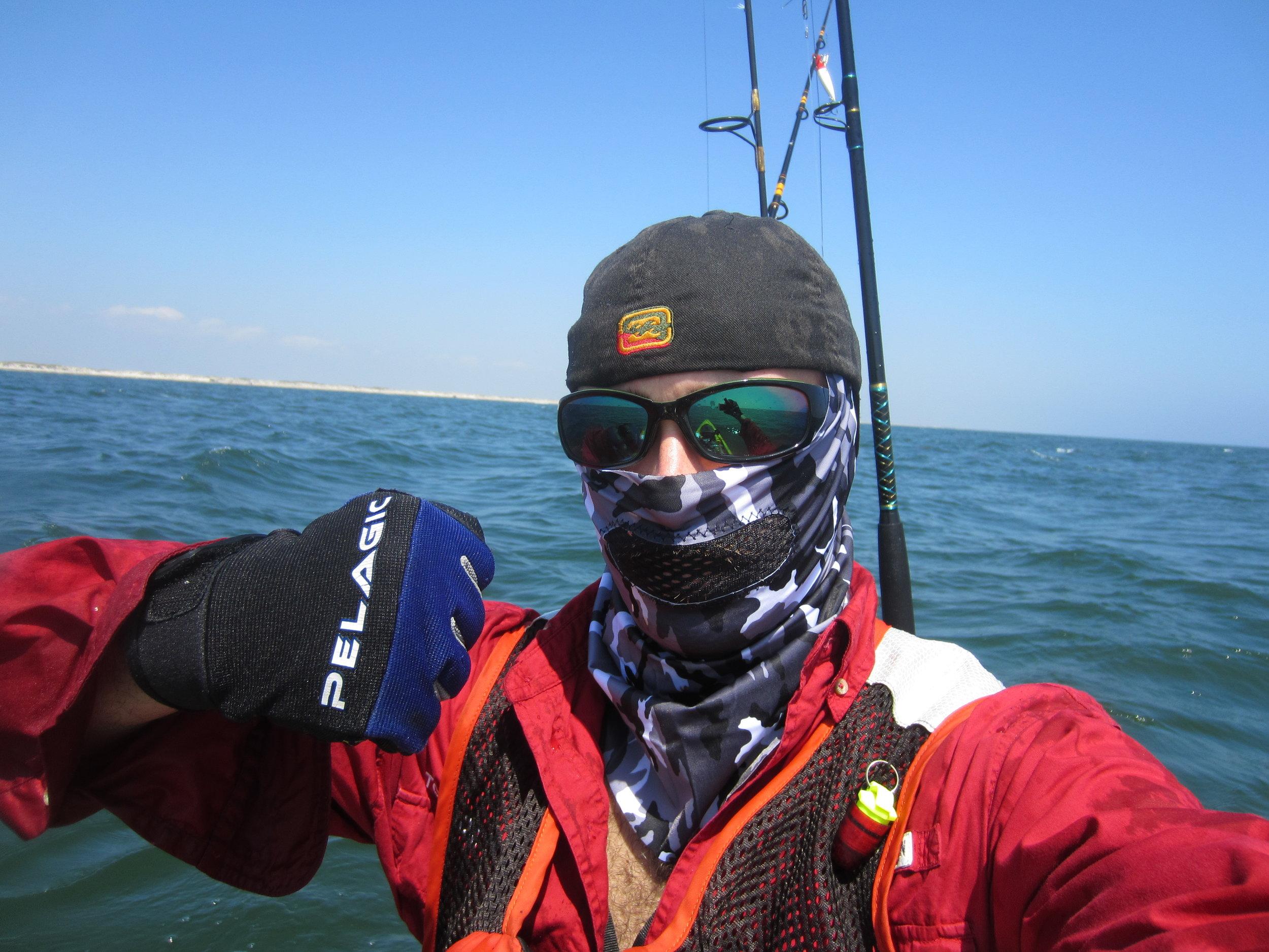 Beyond the breakers Kayak fishing