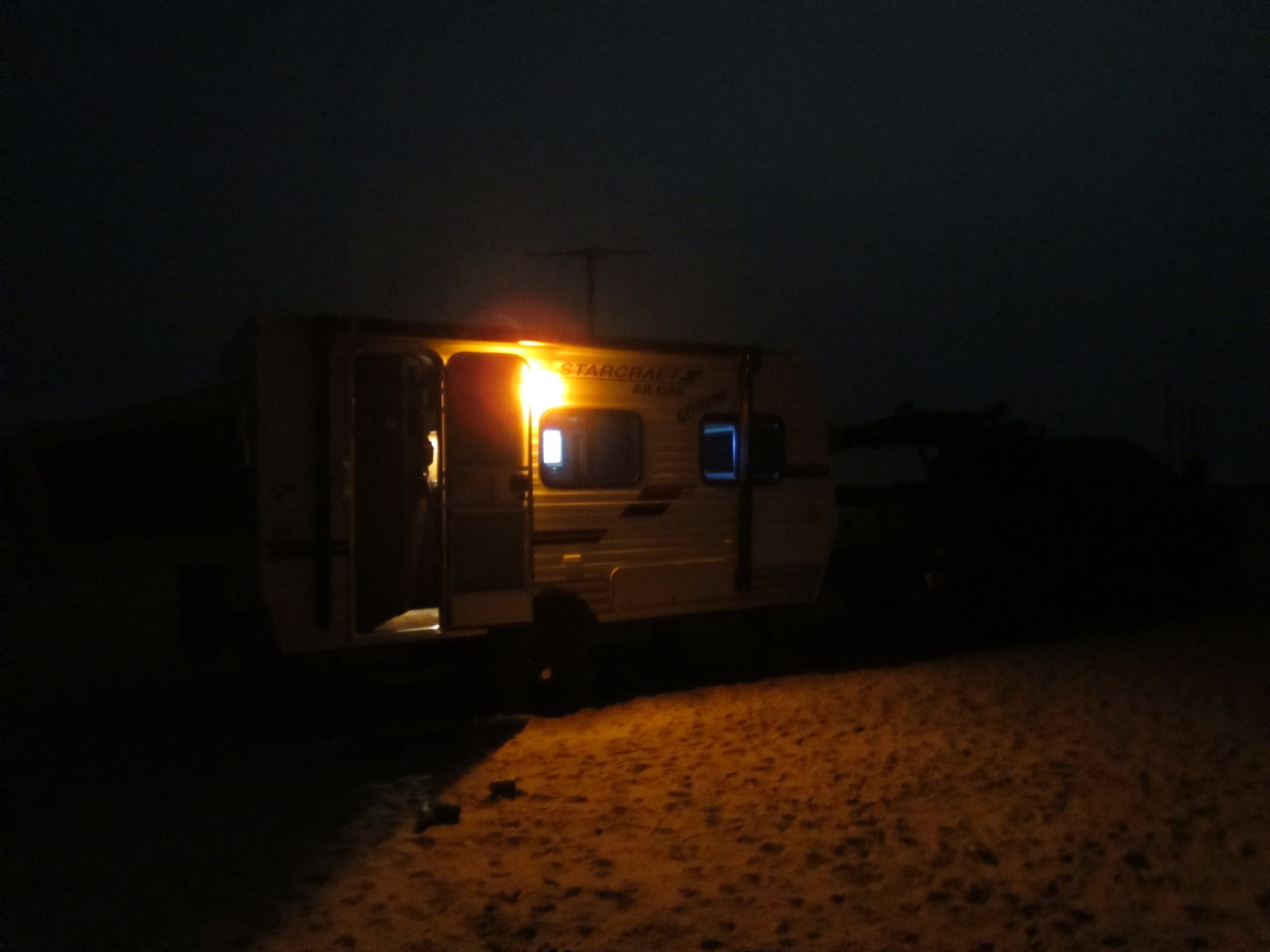 Night at RV Camp in Big Shell