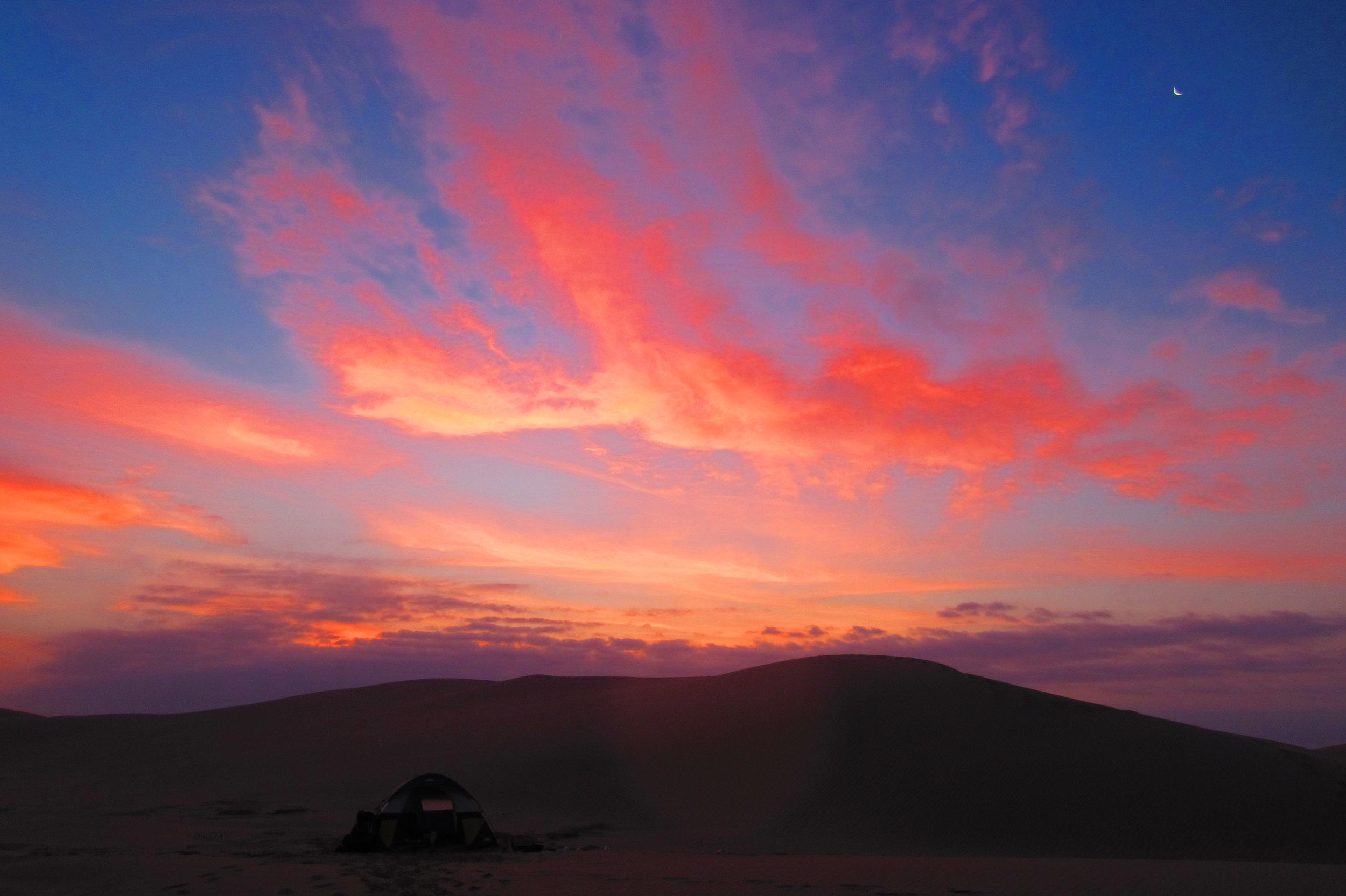 March sunrise 4 miles west of foredunes
