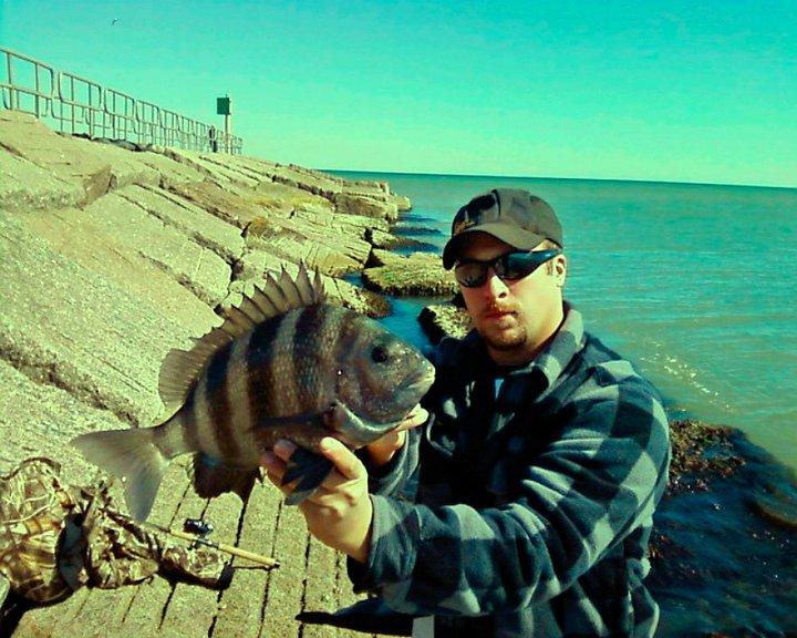 Winter Sheepshead fishing