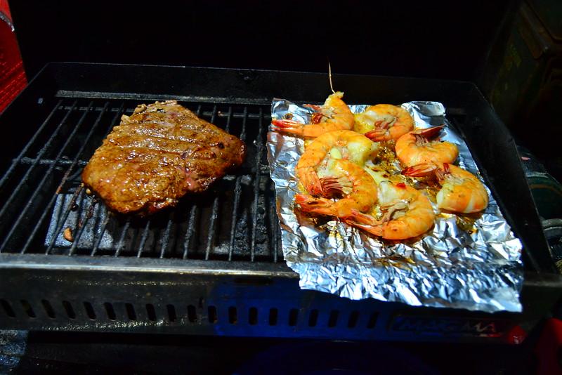 Steak and shrimp!