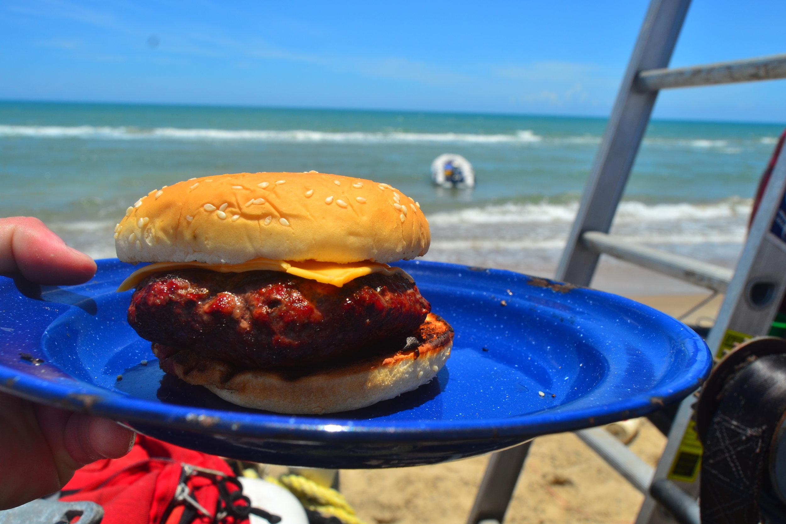 Beach burgers!