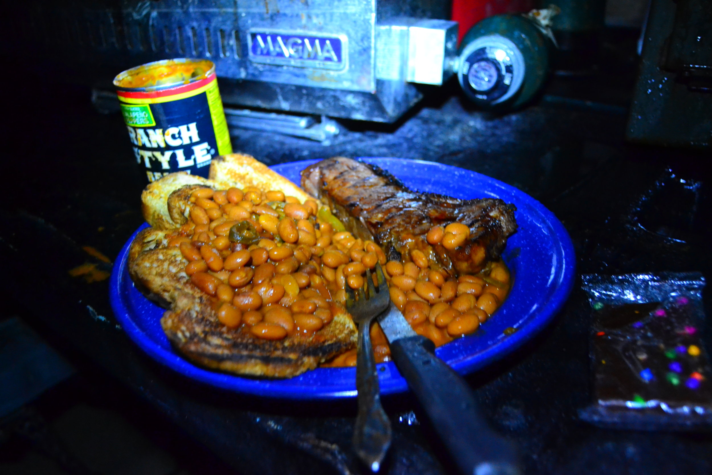 New York Strip and Ranch style beans!