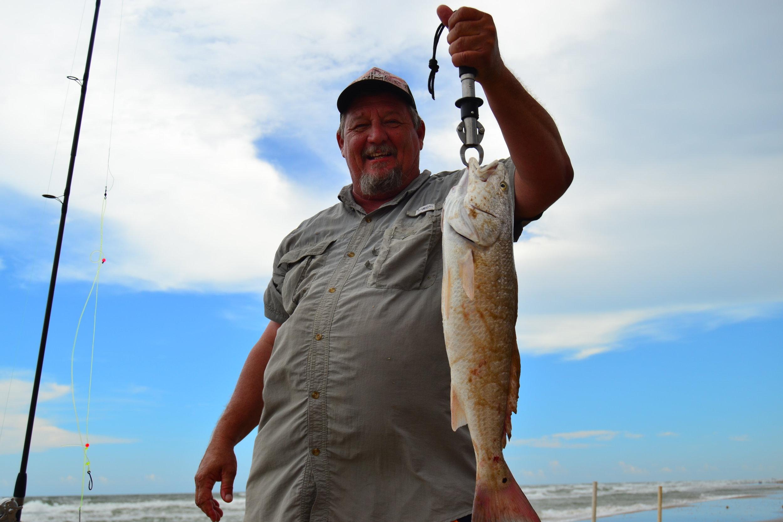 Warren Seigmund with a nice redfish.