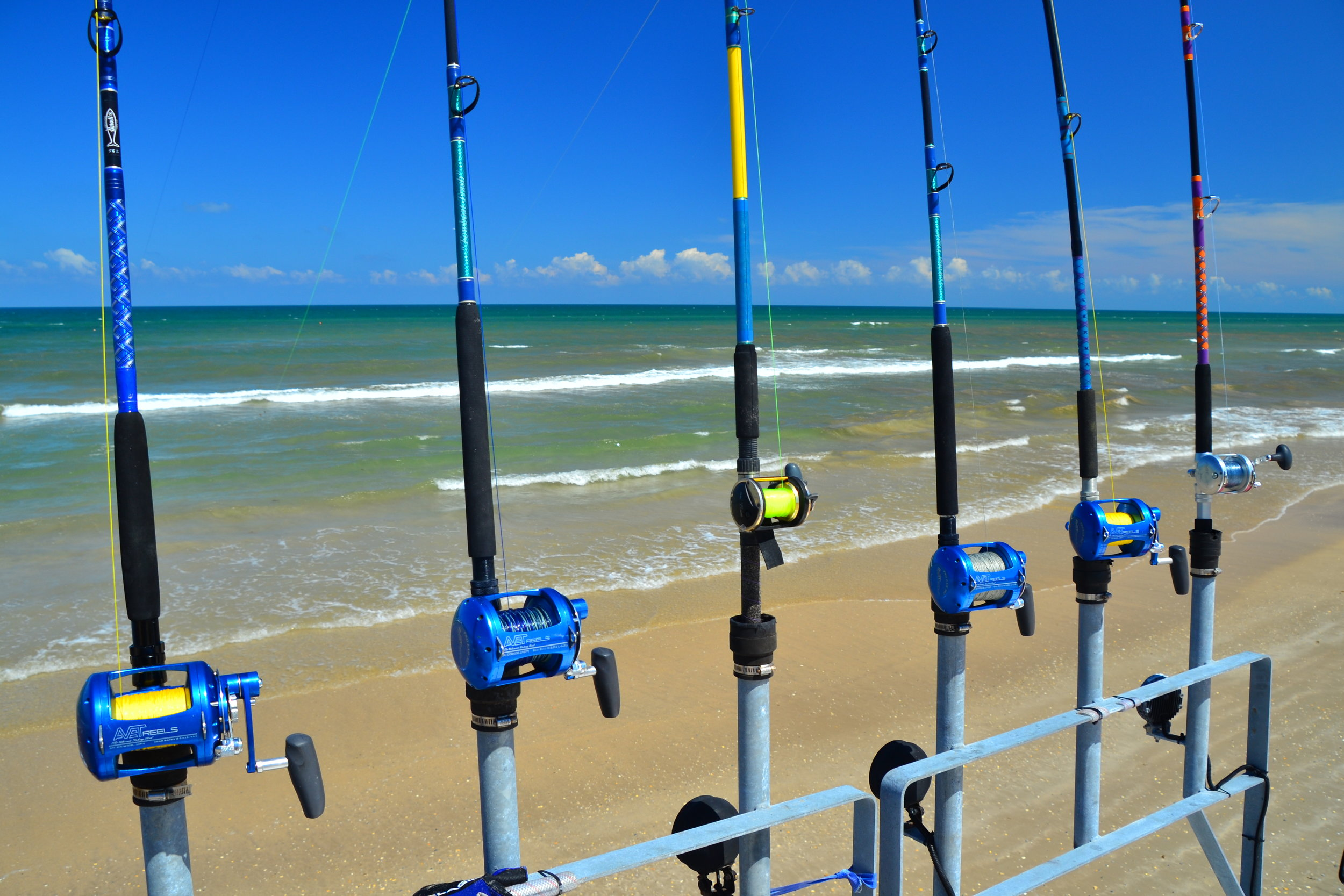 A shark fishing spread!