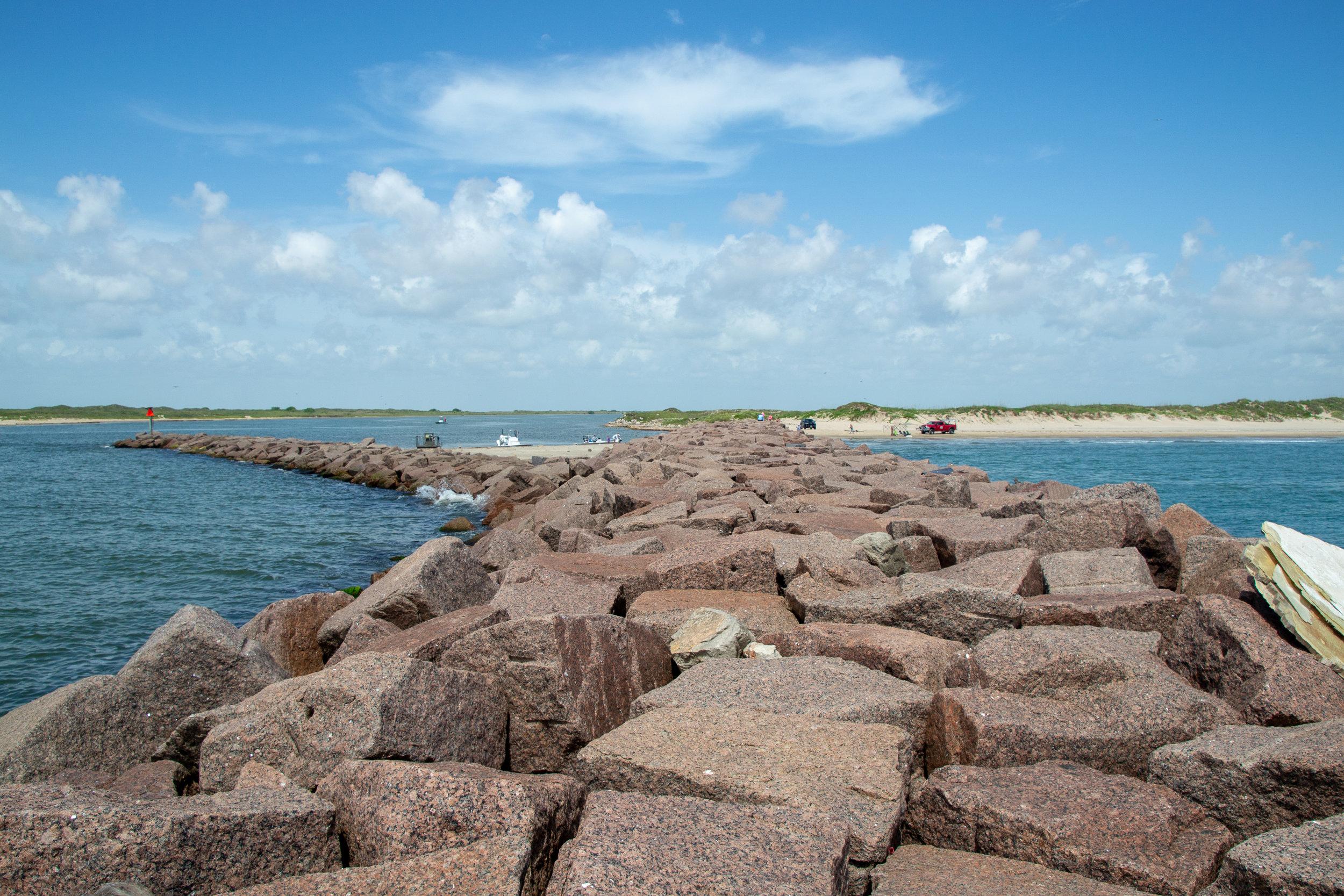 Port Mansfield jetties.