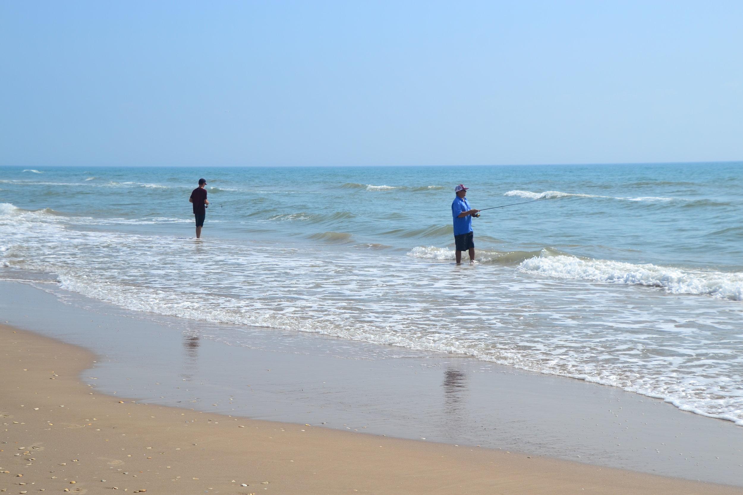 Surf fishing!