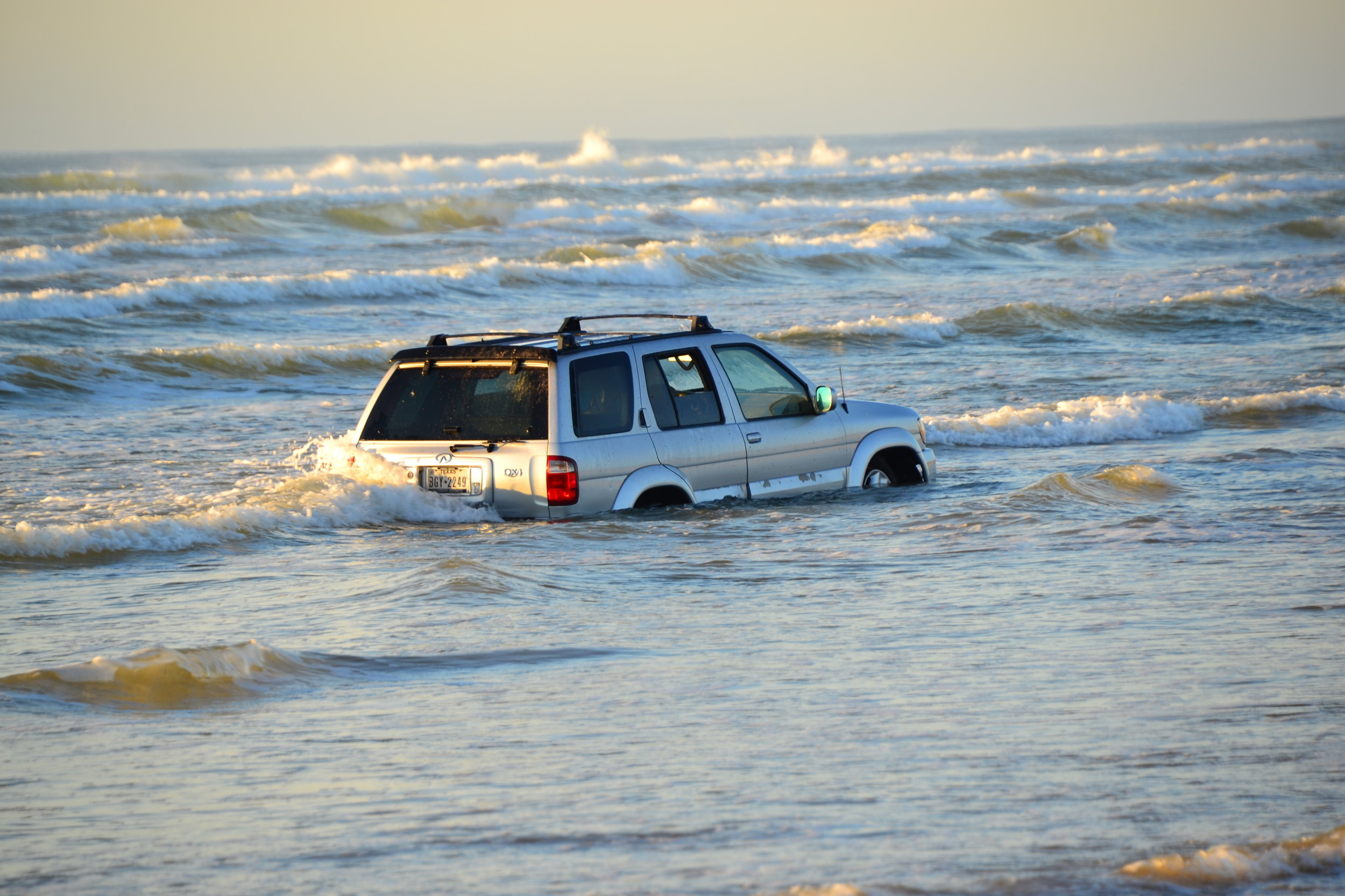 What a shame.  The surf does not discriminate, it will take a vehicle in a heartbeat.