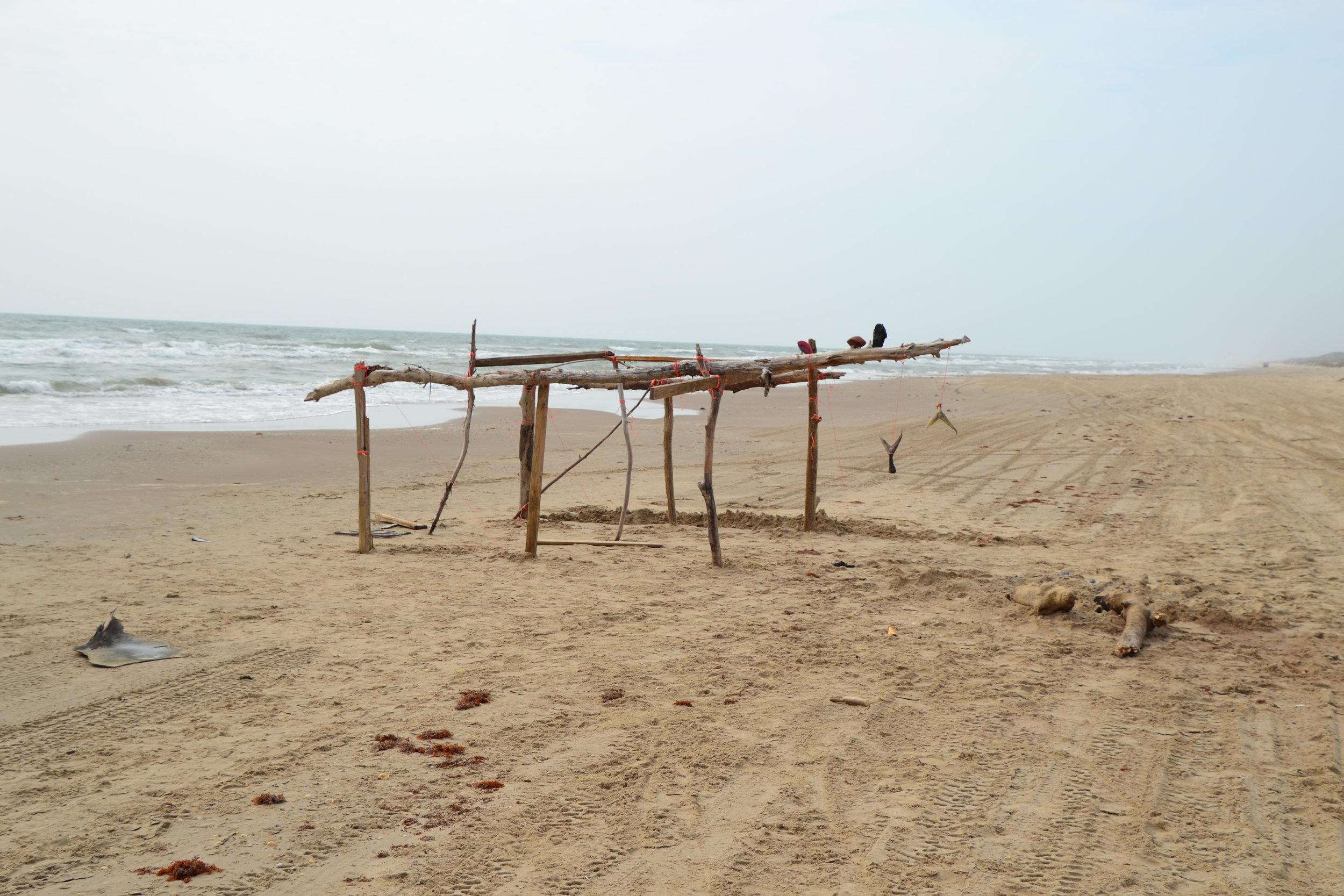 Weekend shark camp, deserted.