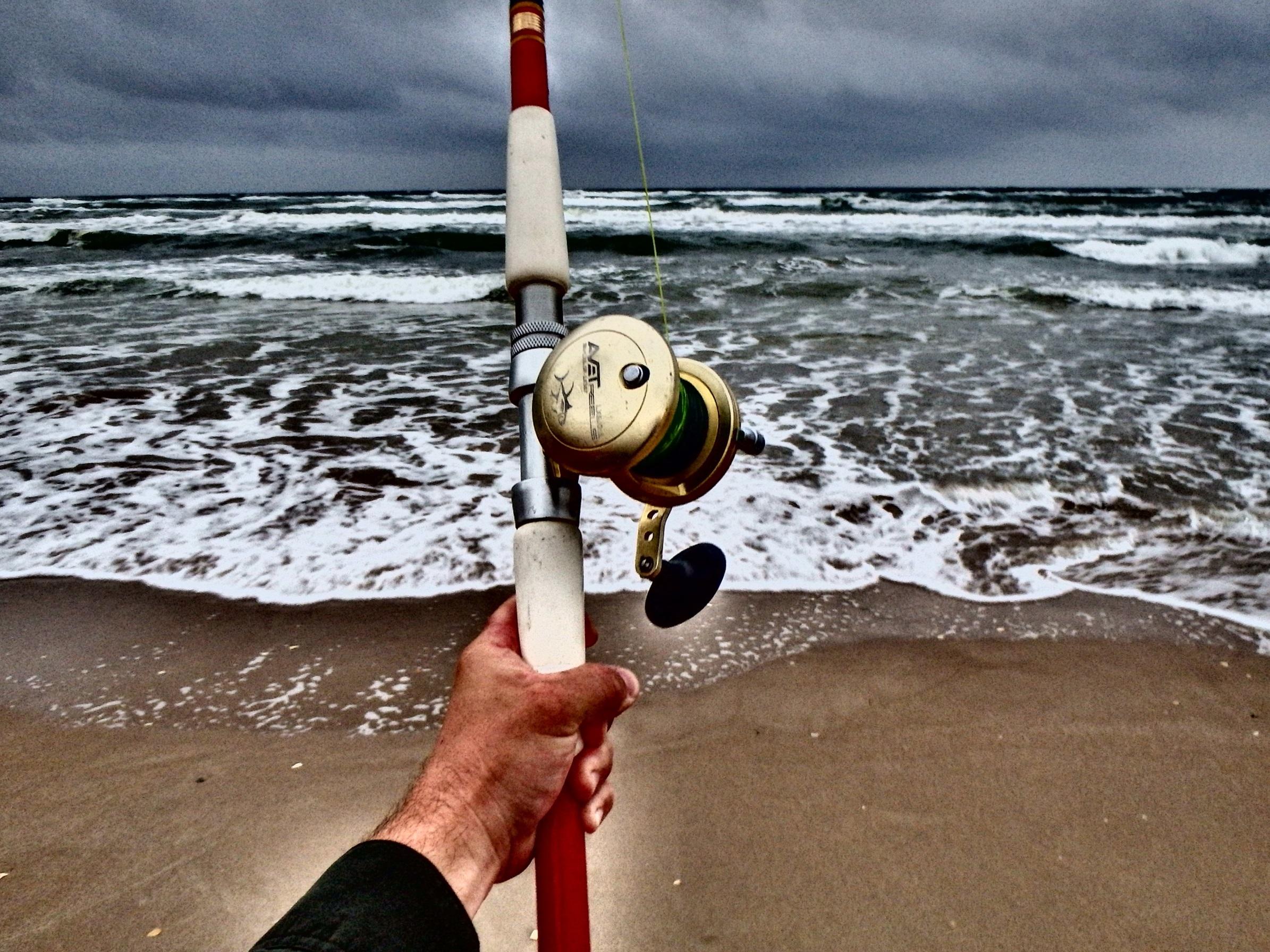 Big storm from the west, high winds, rain, falling pressure. - Padre Island National Seashore