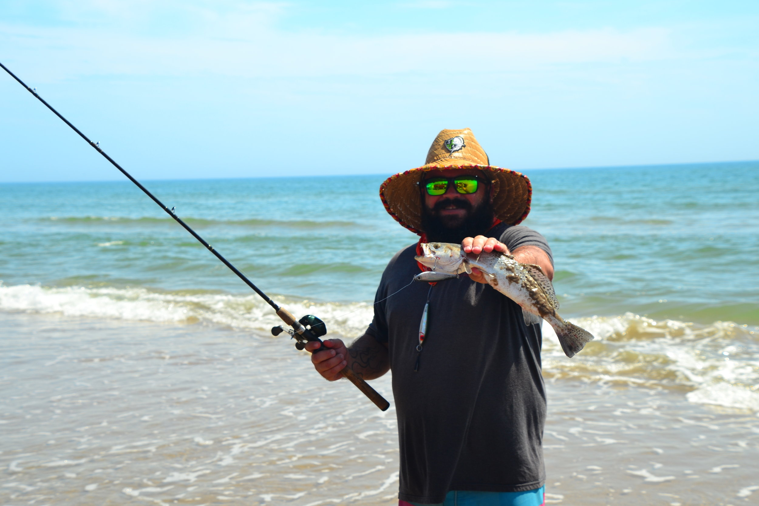 August surf trout on lure!