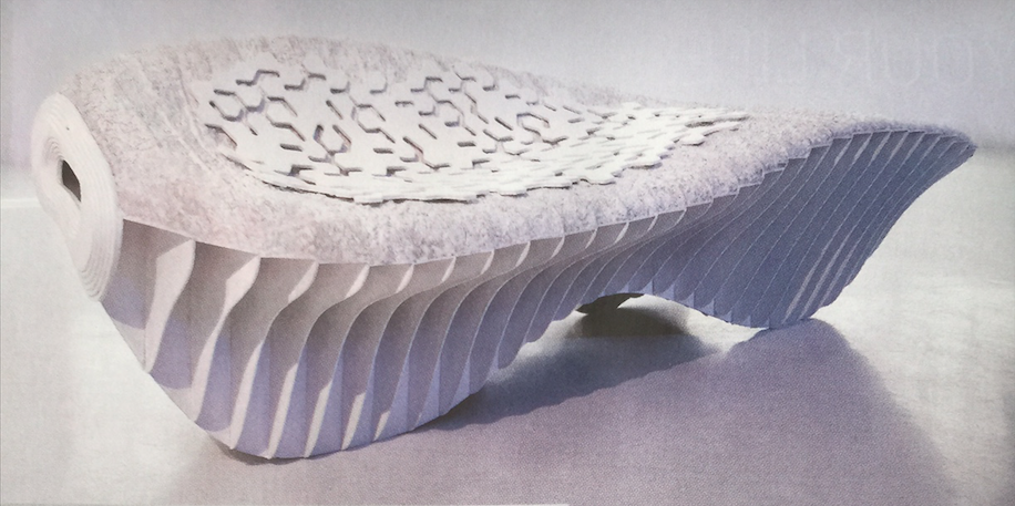 Lounging in mycelium chair