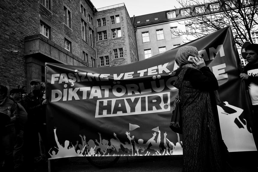 Protest in Berlin gegen Erdogan und für Nein beim Referendum