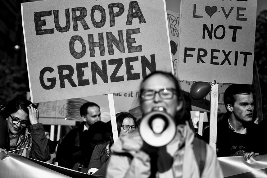 Demonstration für die Europäische Union in Berlin