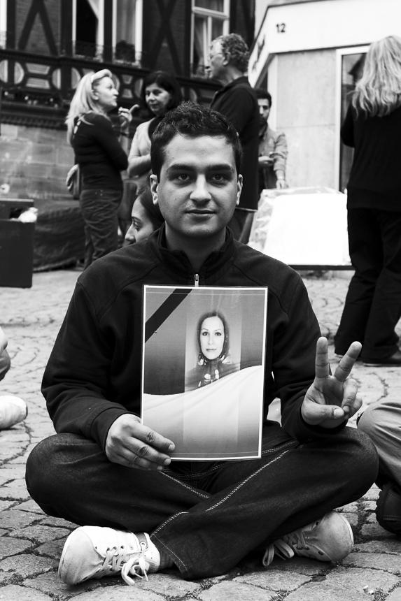 Vigil for Neda Soltani. Marburg.