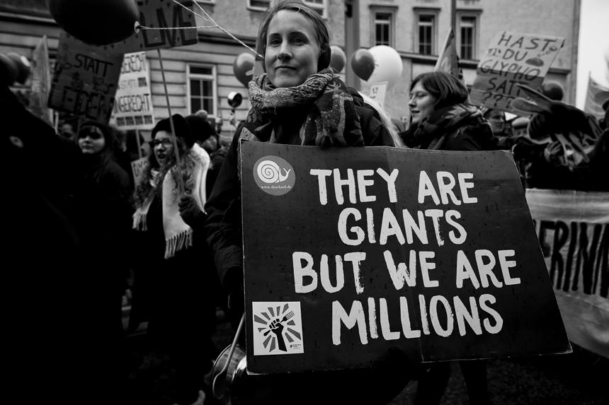 """Zehntausende bei jährlicher """"Wir haben es satt""""-Demo in Berlin"""