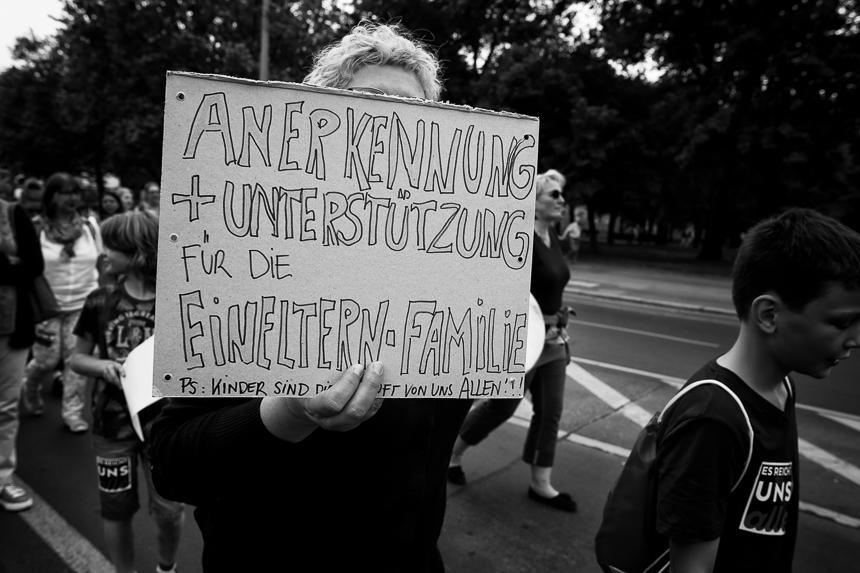 Demonstration gegen Kinderarmut in Berlin