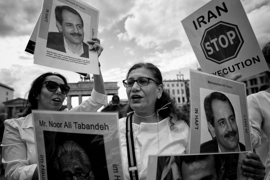 Protest in Berlin für die Rechte von Frauen im Iran