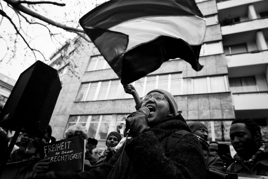 Demonstration gegen die Diktatur in Sudan