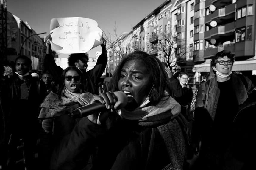Solidarität in Berlin mit dem Aufstand gegen die Diktatur in Su