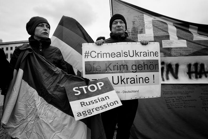 Fünfter Jahrestag: Protest in Berlin gegen die Besatzung der Kr