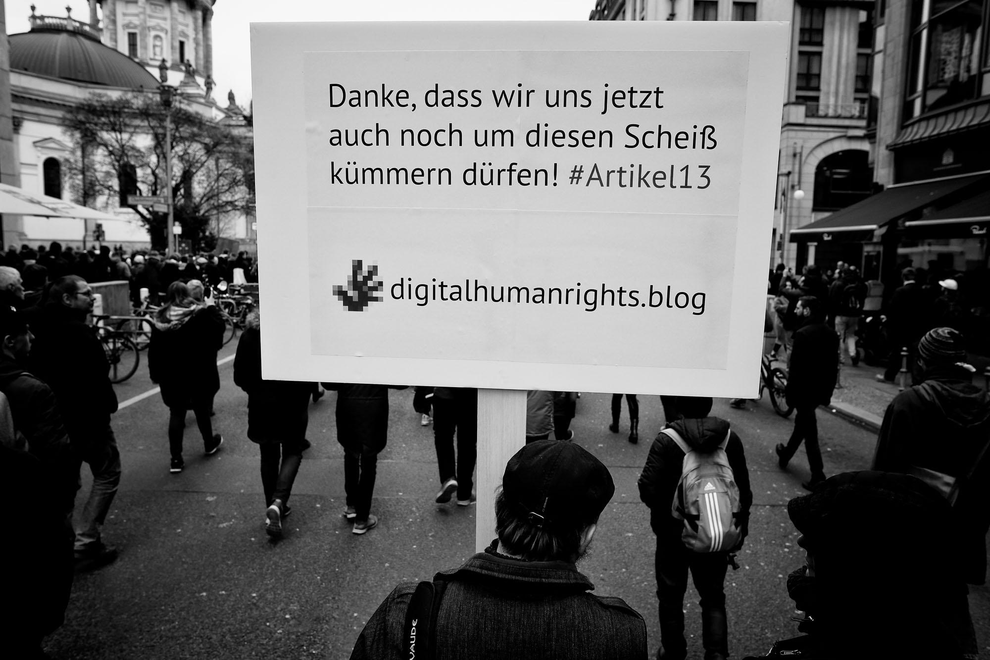 Berlin gegen 13 - Demo gegen Uploadfilter