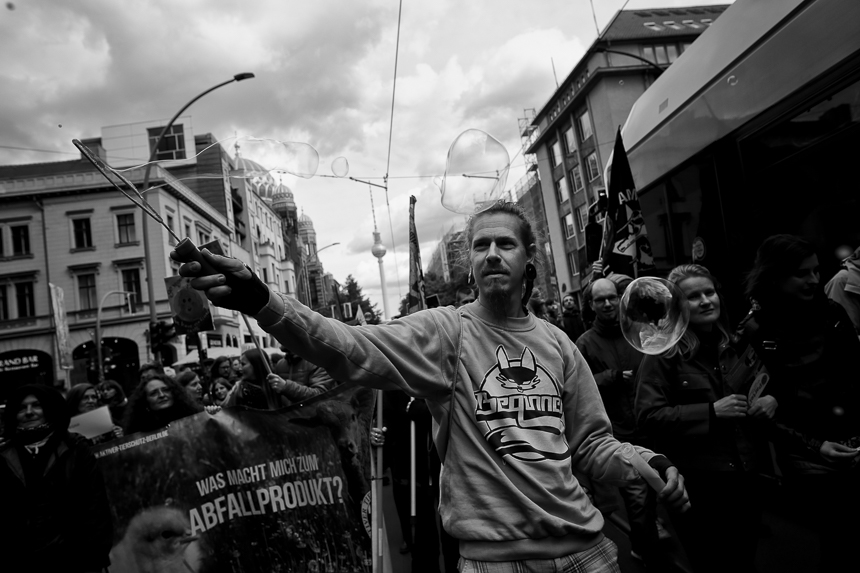 Vegane Demonstration in Berlin für Tierrechte und den Schutz vo