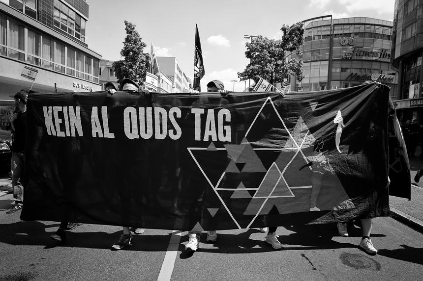 Protest in Solidarität mit Israel in Berlin