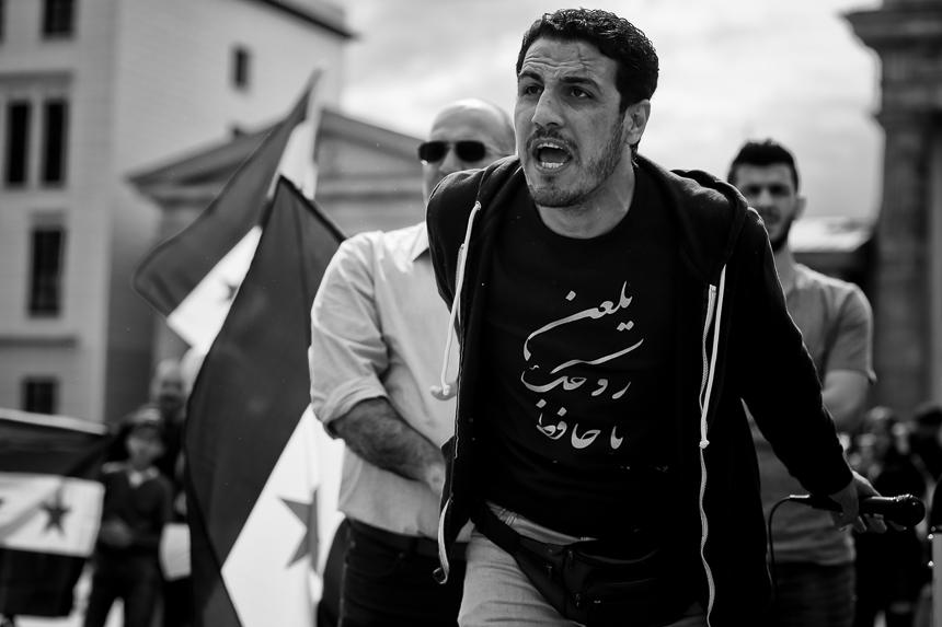 Protest in Berlin in Solidarität mit den Menschen in Idlib, Syr