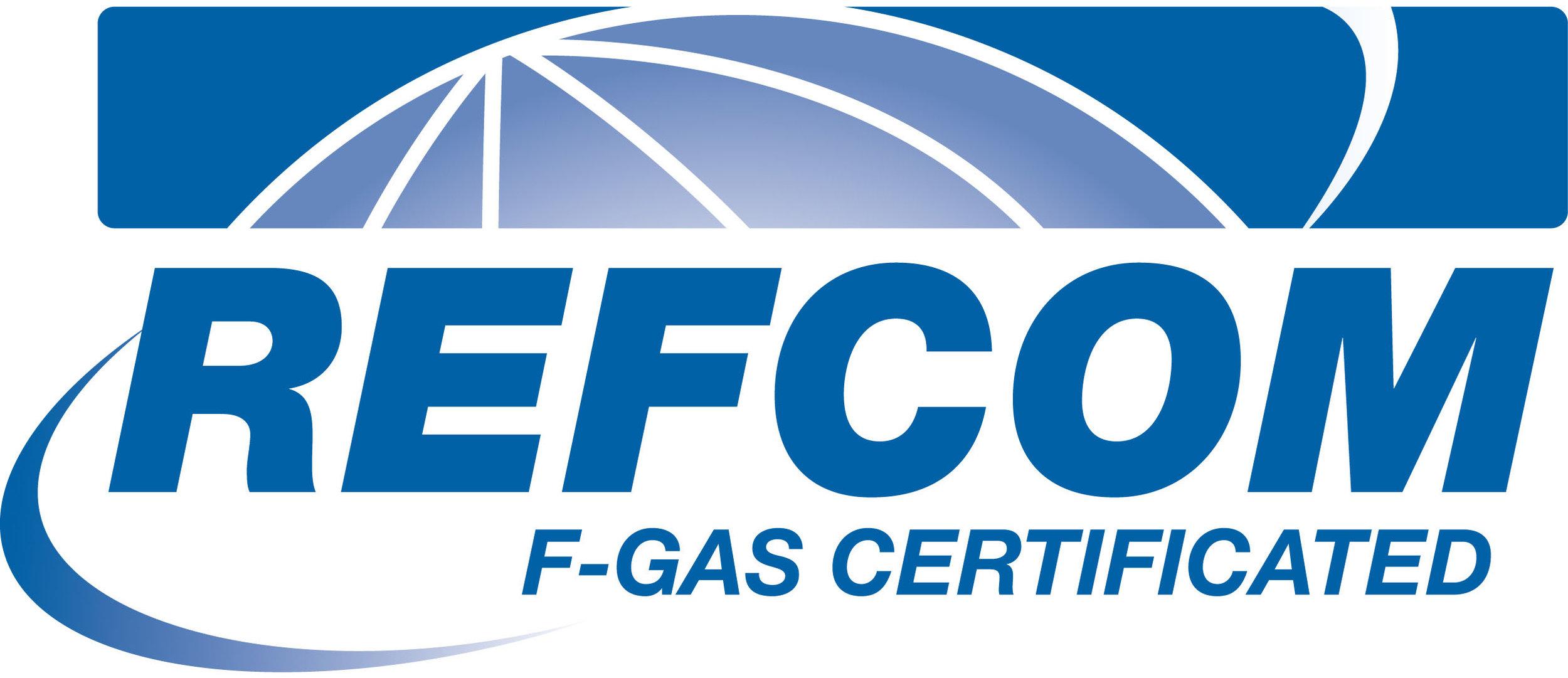 REFCOM F-GAS CERTIFIED