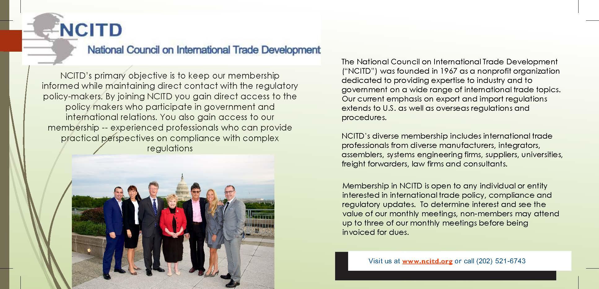 Membership — National Council on International Trade Development