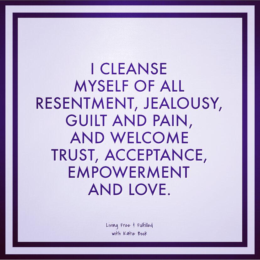 I Cleanse Myself of...
