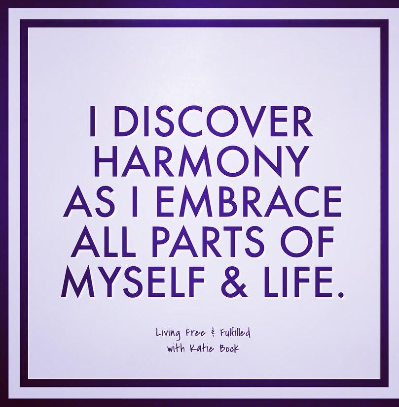 I Discover Harmony...