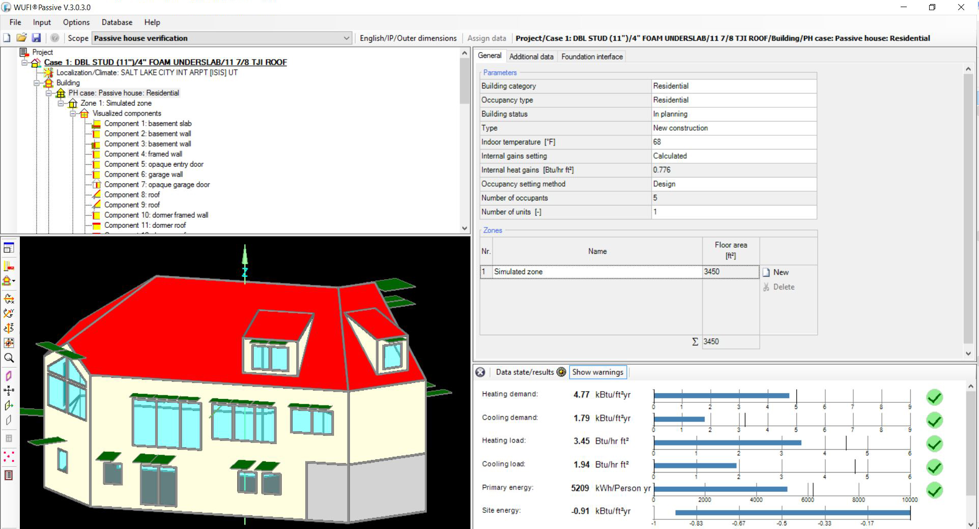 Energy modeling software: WUFI 3.0