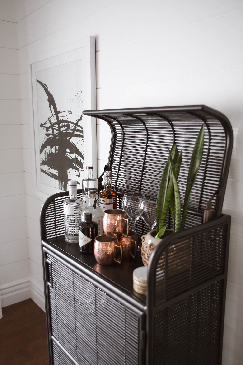 Rustic Mid Century Bar Cart