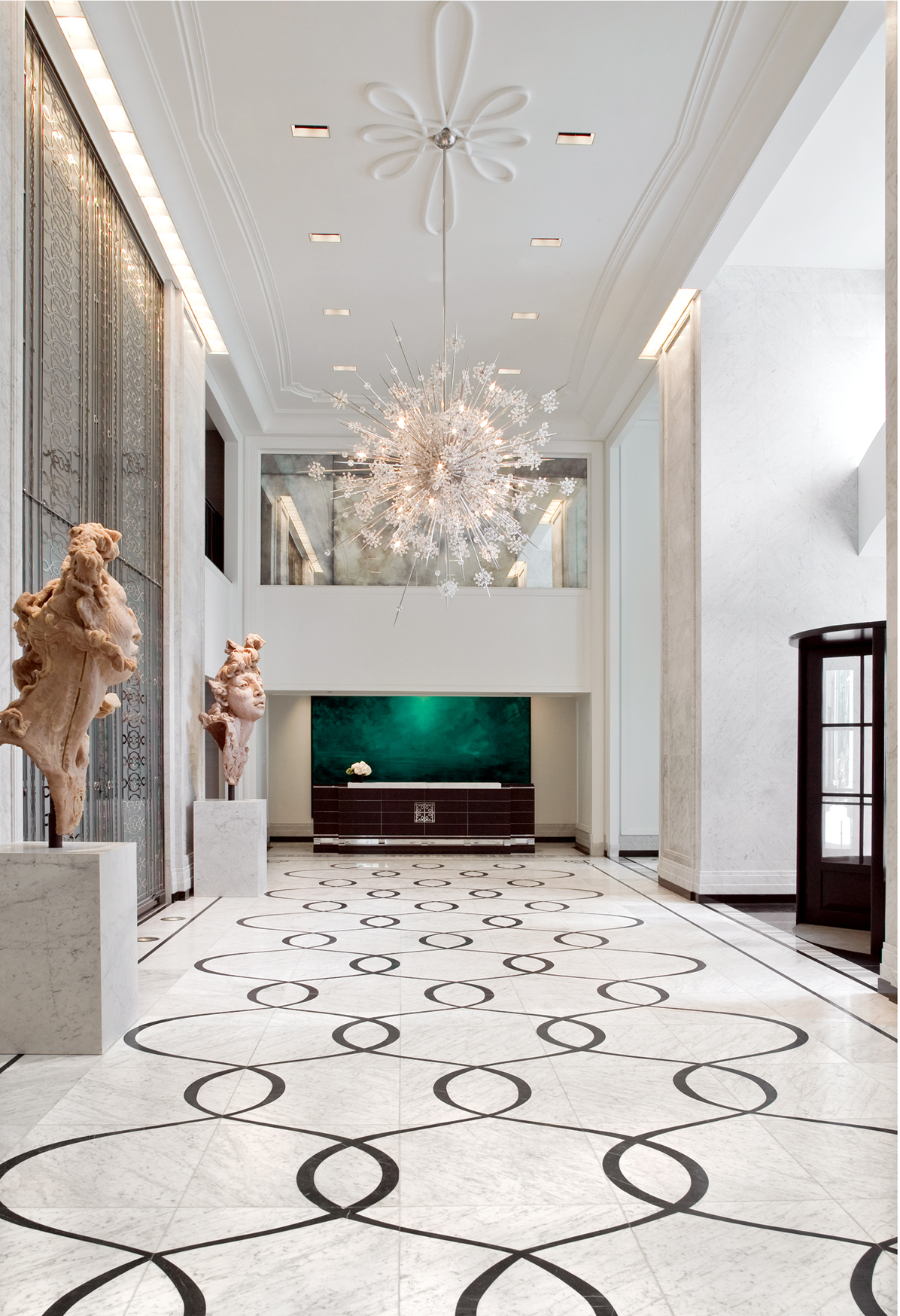 Elysian Hotel, currently Waldorf Astoria | Design Firm: Simeone Deary Design Group Artists L to R: Javier Marín, Herbert Brandl