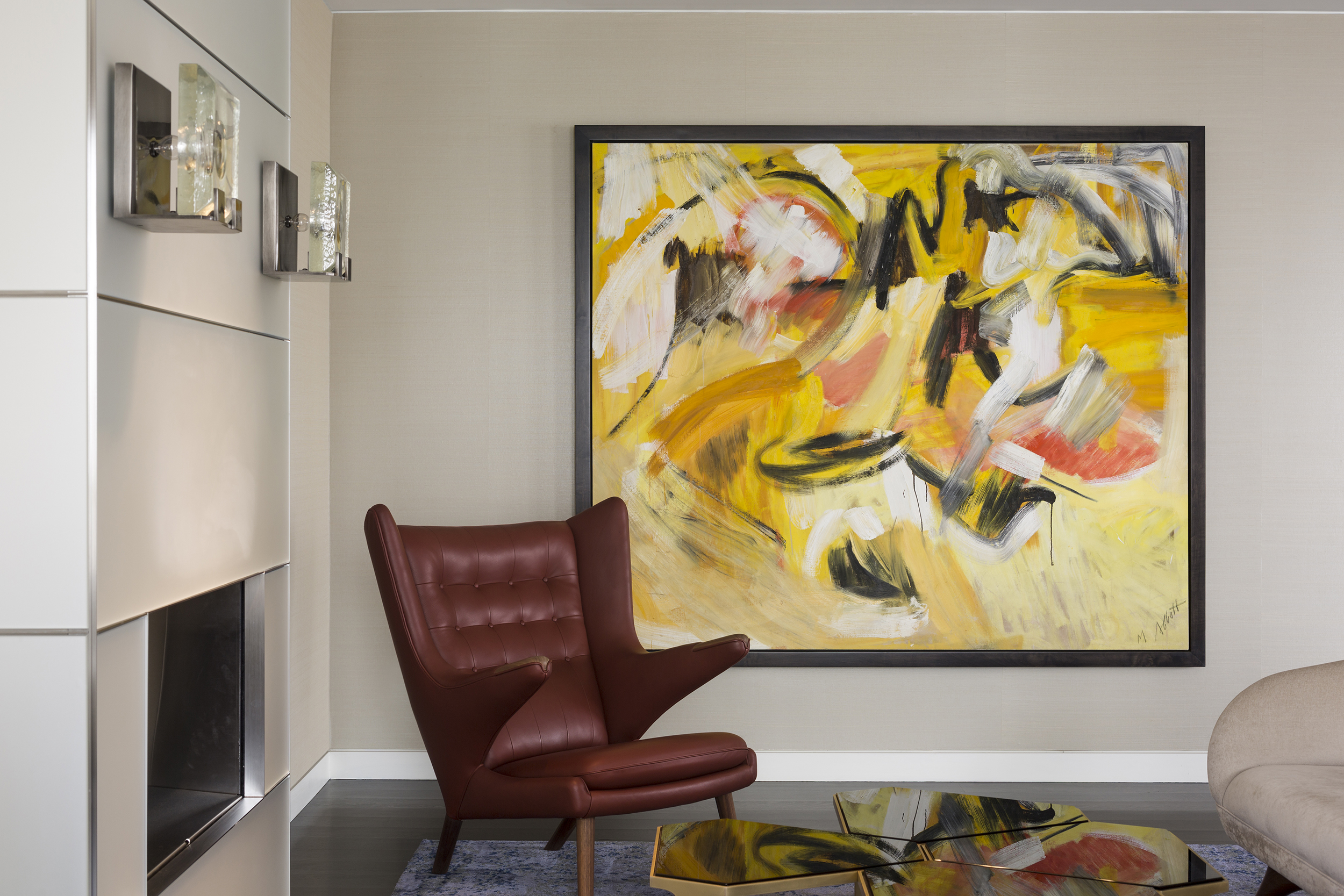 Private Collector | Design Firm: Eric Ceputis Design and Vinci | Hamp Architects Artist: Mary Abbott