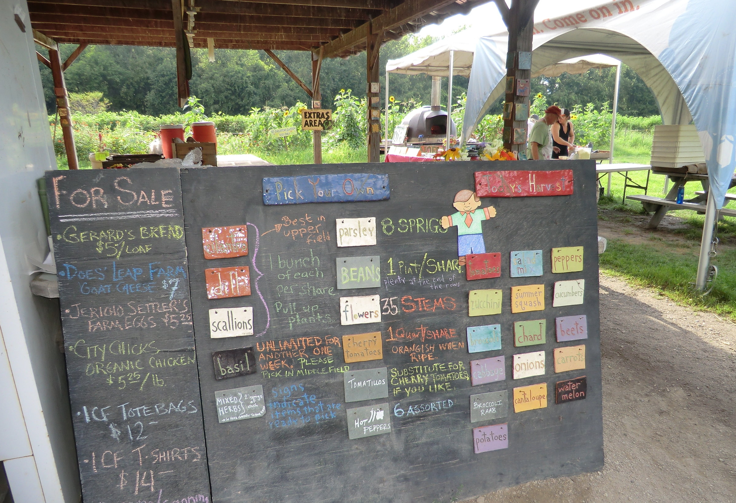 list of veggies available for pickup.JPG
