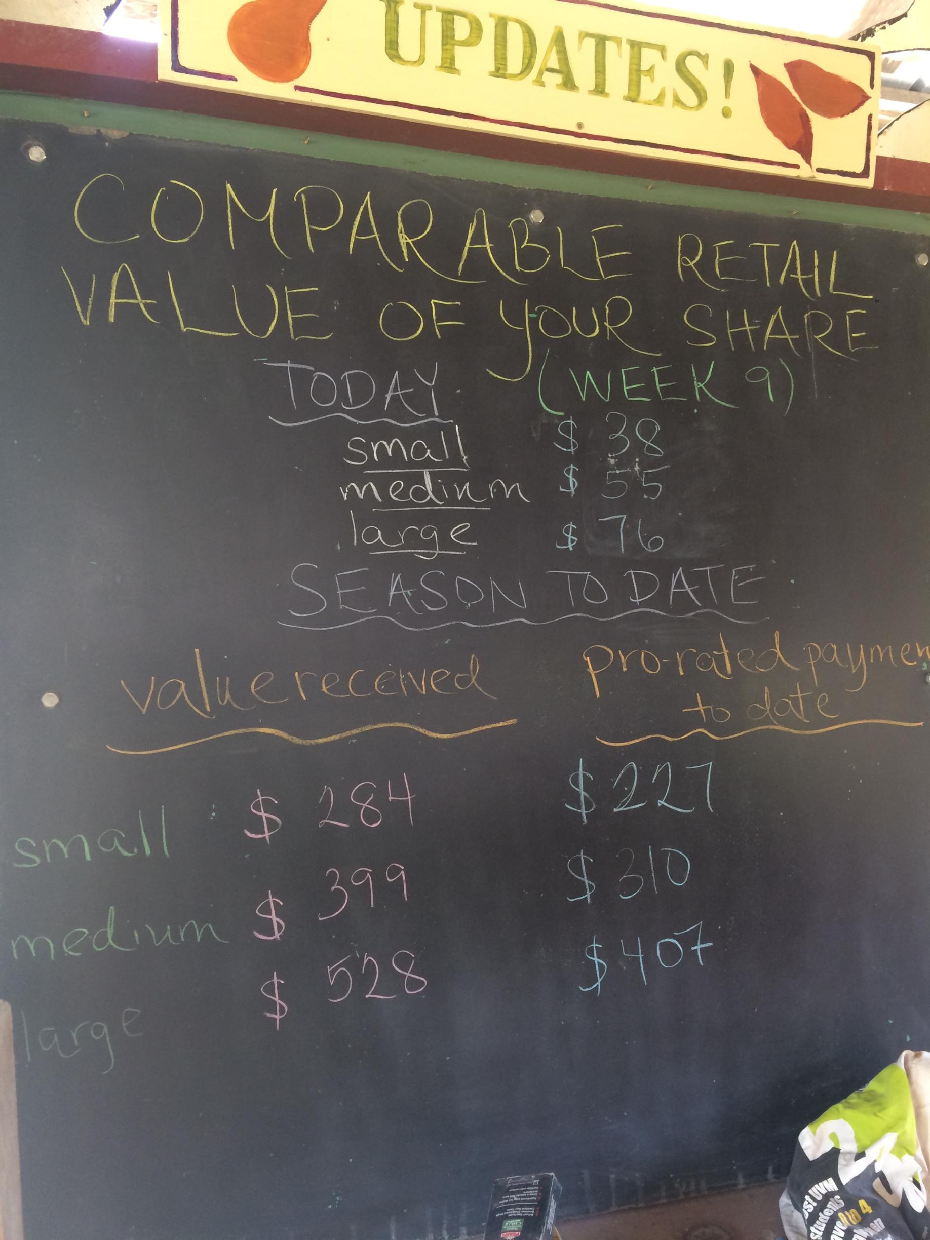 Week 9 Share Value