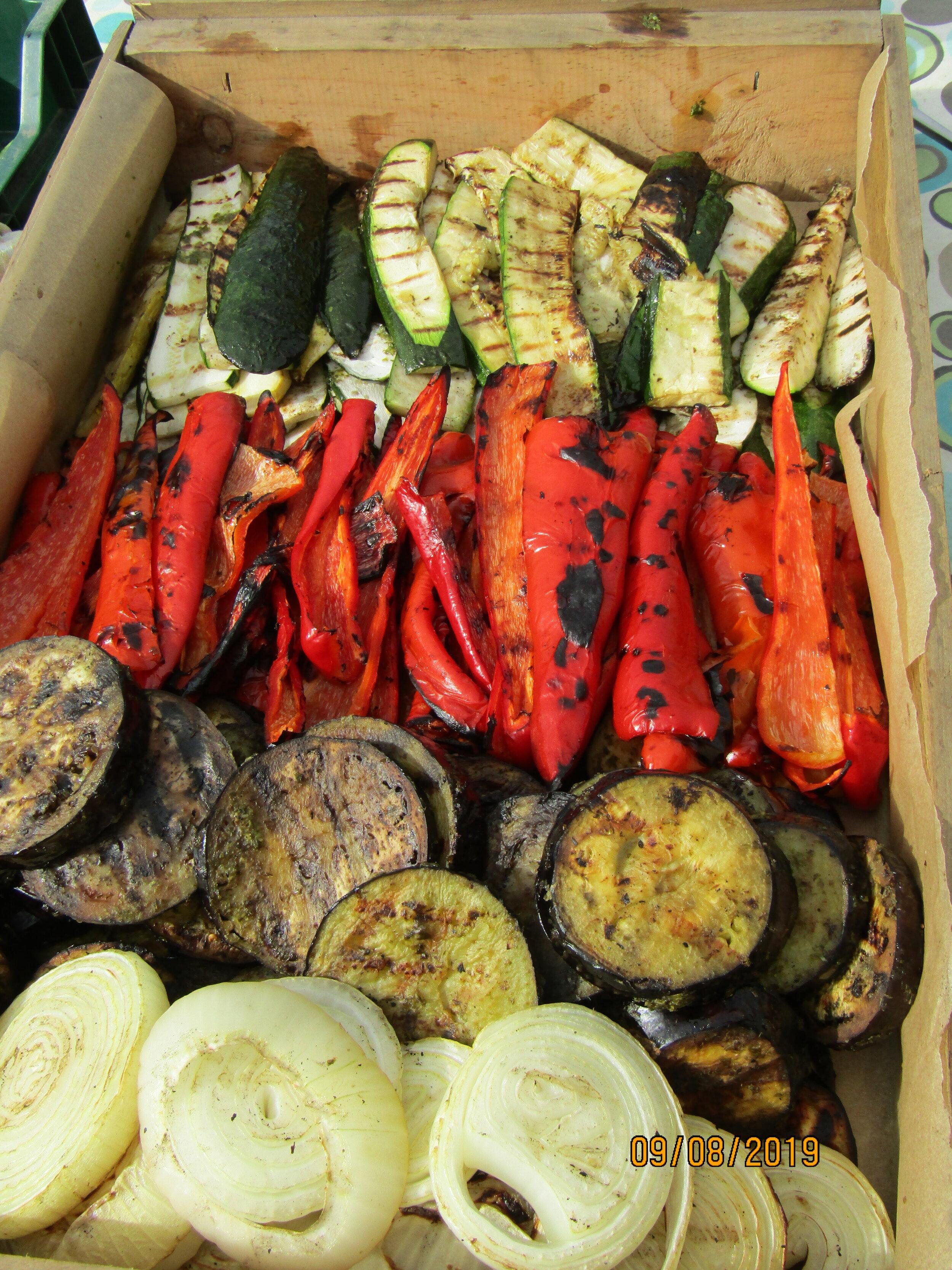 Grilled ICF vegetables