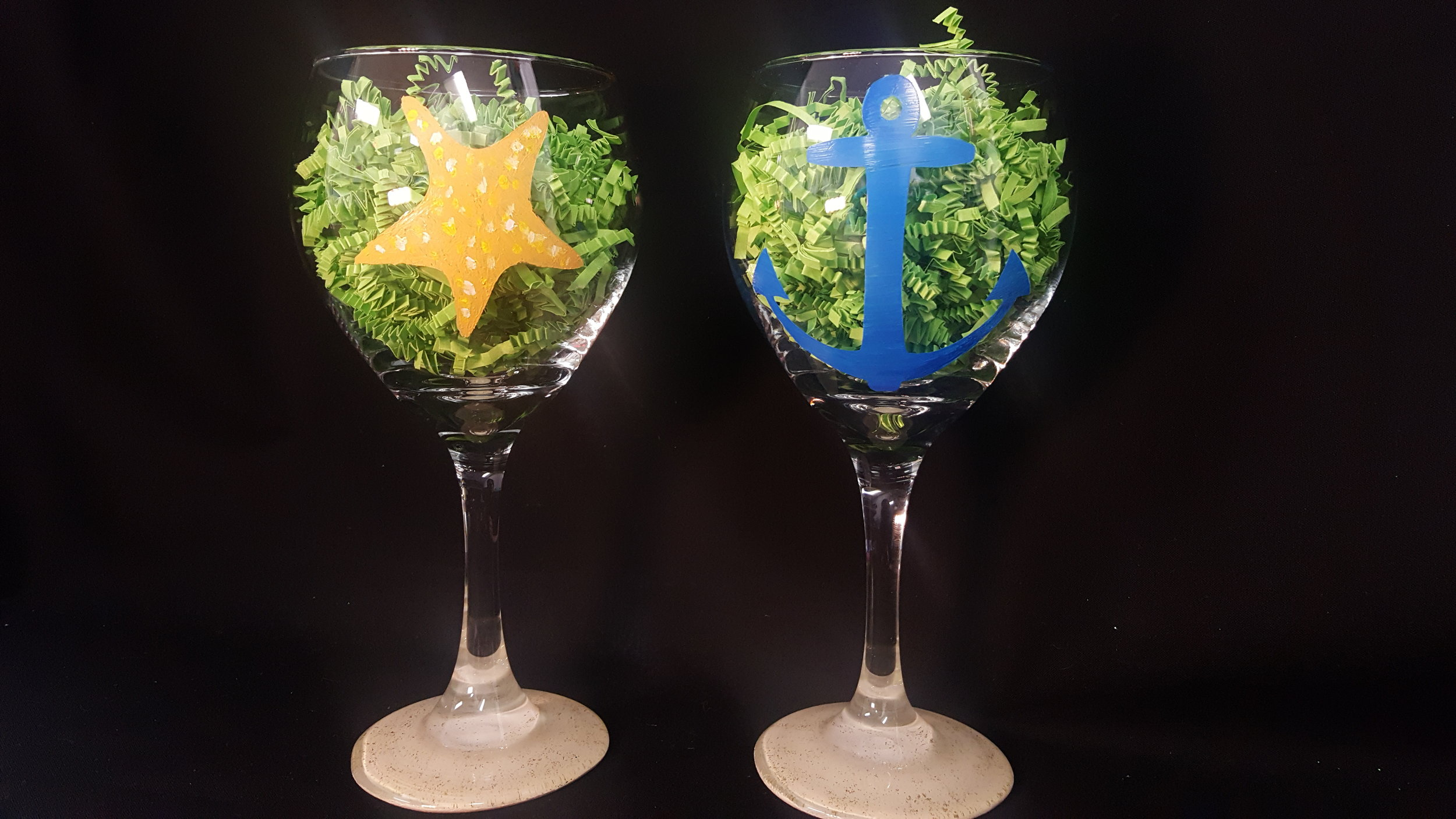 wine glass painting parties
