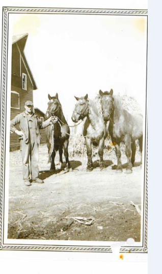 Albert Benson with his drafts