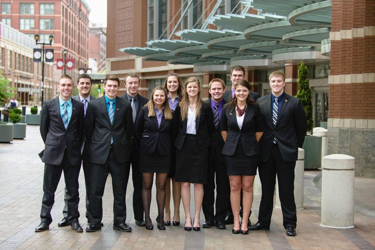 2015 UWW Enactus Team in St. Louis at the Enactus National Exposition