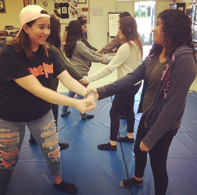 Partner drills at Dos Pueblos High School