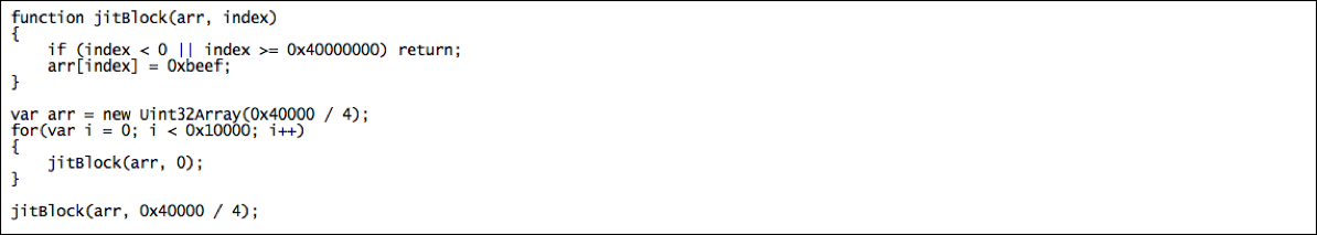Figure            SEQ Figure \* ARABIC      7         - PoC to Achieve Bounds Check Elimination, Post-Patch  (Click to enlarge)