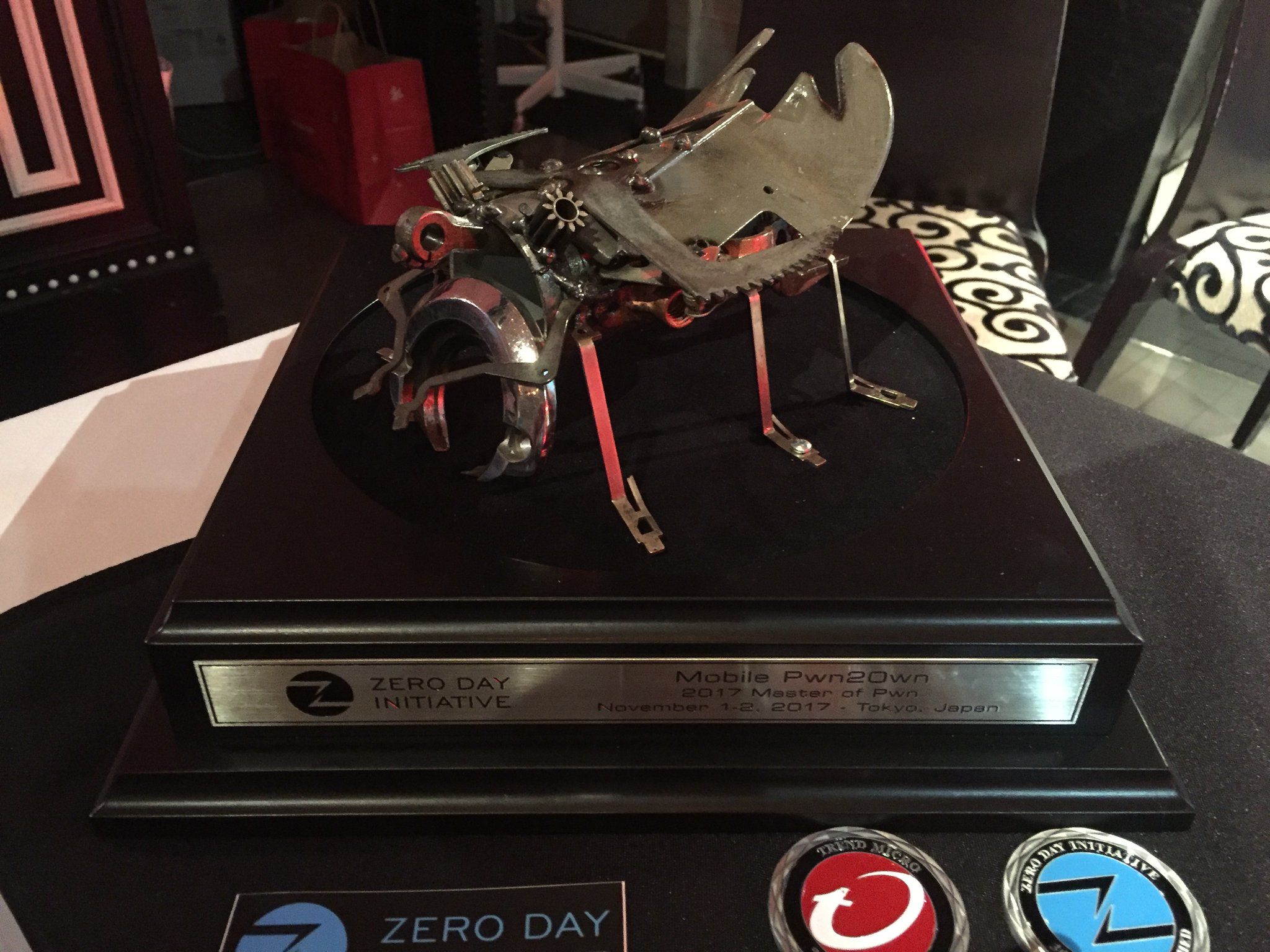 Master of Pwn Trophy from 2017