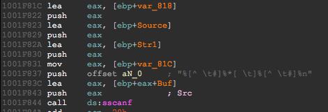 No width in format string